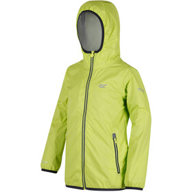 Regatta Lever II Jacket Kids, lime zest/seal grey